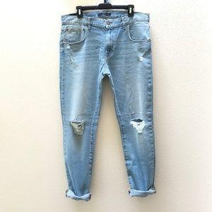 NWT DSTLD Distressed Skinny Boyfriend Jeans